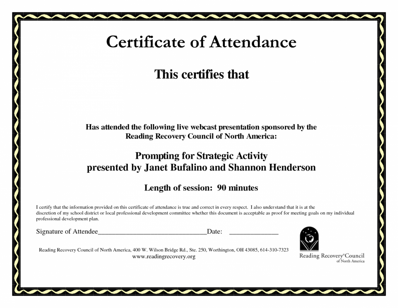 graphic about Perfect Attendance Certificate Printable named Cost-free Printable Great Attendance Certification Template Term