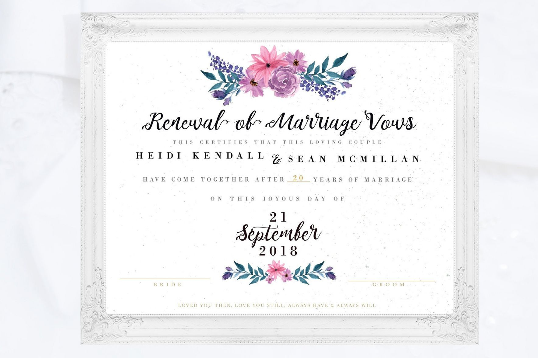 It's just a graphic of Free Printable Vow Renewal Invitations within always and forever
