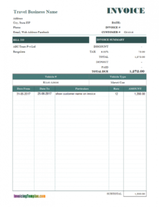 free rental invoicing template rental property invoice template example blank