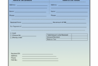 House Rental Invoice Template In Excel Format | House Rental Invoice Rent Payment Invoice Template Sample