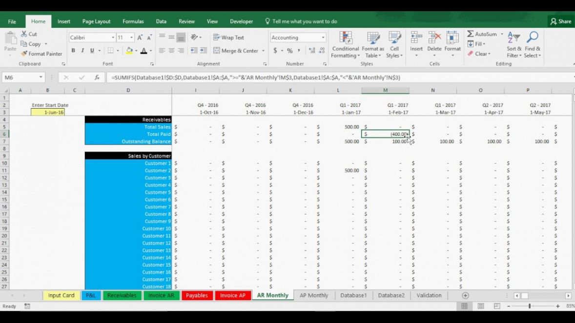 printable accounts receivable and payable tracking template in excel - youtube accounts receivable invoice template word