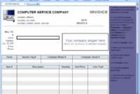 Printable Computer Service Invoice Template – Download Computer Repair Service Invoice Template PDF