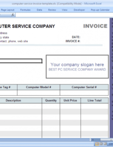 printable computer service invoice template - download computer repair service invoice template pdf