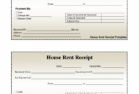 Printable Free House Rental Invoice | House Rent Receipt Template – Doc Rent Payment Invoice Template
