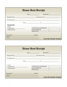 printable free house rental invoice | house rent receipt template - doc rent payment invoice template