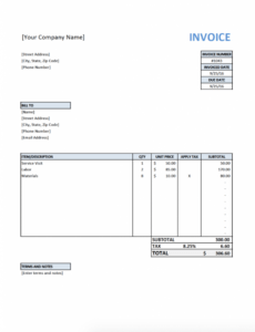 printable free invoice template for contractors software contractor invoice template word blank
