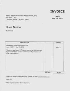 printable homeowners association dues invoice template – goal.goodwinmetals dues invoice template doc blank