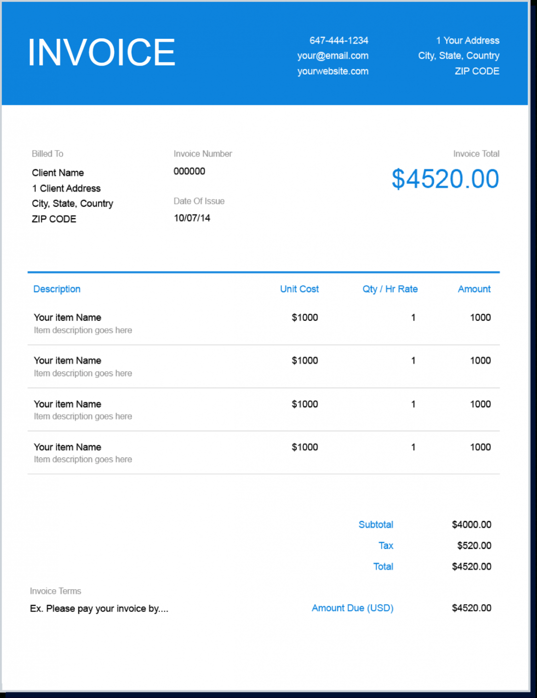 printable invoice template | send in minutes | create free invoices instantly software development invoice template word