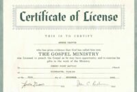 picture about Free Printable Minister License Certificate named Editable Church Ordination Certificates Templates