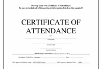 Printable Perfect Attendance Award Template – Free Download – D Certificate Of Perfect Attendance Template Sample Blank