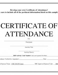 printable perfect attendance award template - free download - d certificate of perfect attendance template sample blank