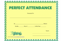 Printable Perfect Attendance Certificate Printable – Free Download – D-Templates Certificate Of Perfect Attendance Template Word