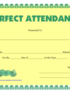 printable perfect attendance certificate printable - free download - d-templates certificate of perfect attendance template word