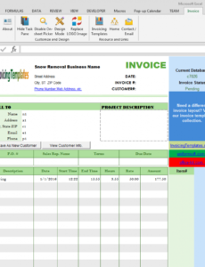 printable snow removal billing format snow removal invoice template example