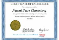 Printable Student Council | Practices At Press Student Council Award Certificate Template  Blank