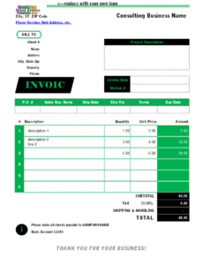 recruitment agency invoice template staffing invoice template pdf blank
