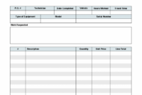 Work Order Template – Invoice Manager For Excel Service Order Invoice Template Sample