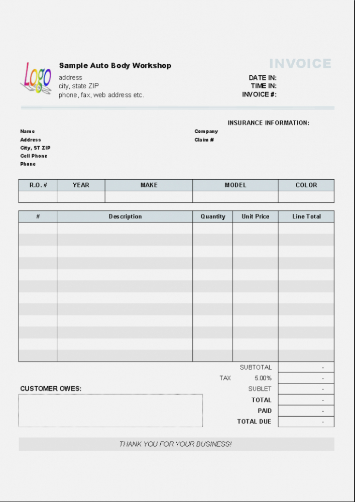 editable auto repair receipt pdf – thevillas – the invoice and form template small engine repair invoice template word blank