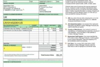 Editable Purolator Commercial Invoice International Shipping And The Us Commercial Invoice Template