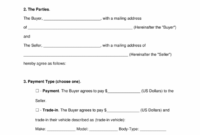 Free Motor Vehicle (Dmv) Bill Of Sale Form – Word | Pdf | Eforms Motor Vehicle Invoice Template Example