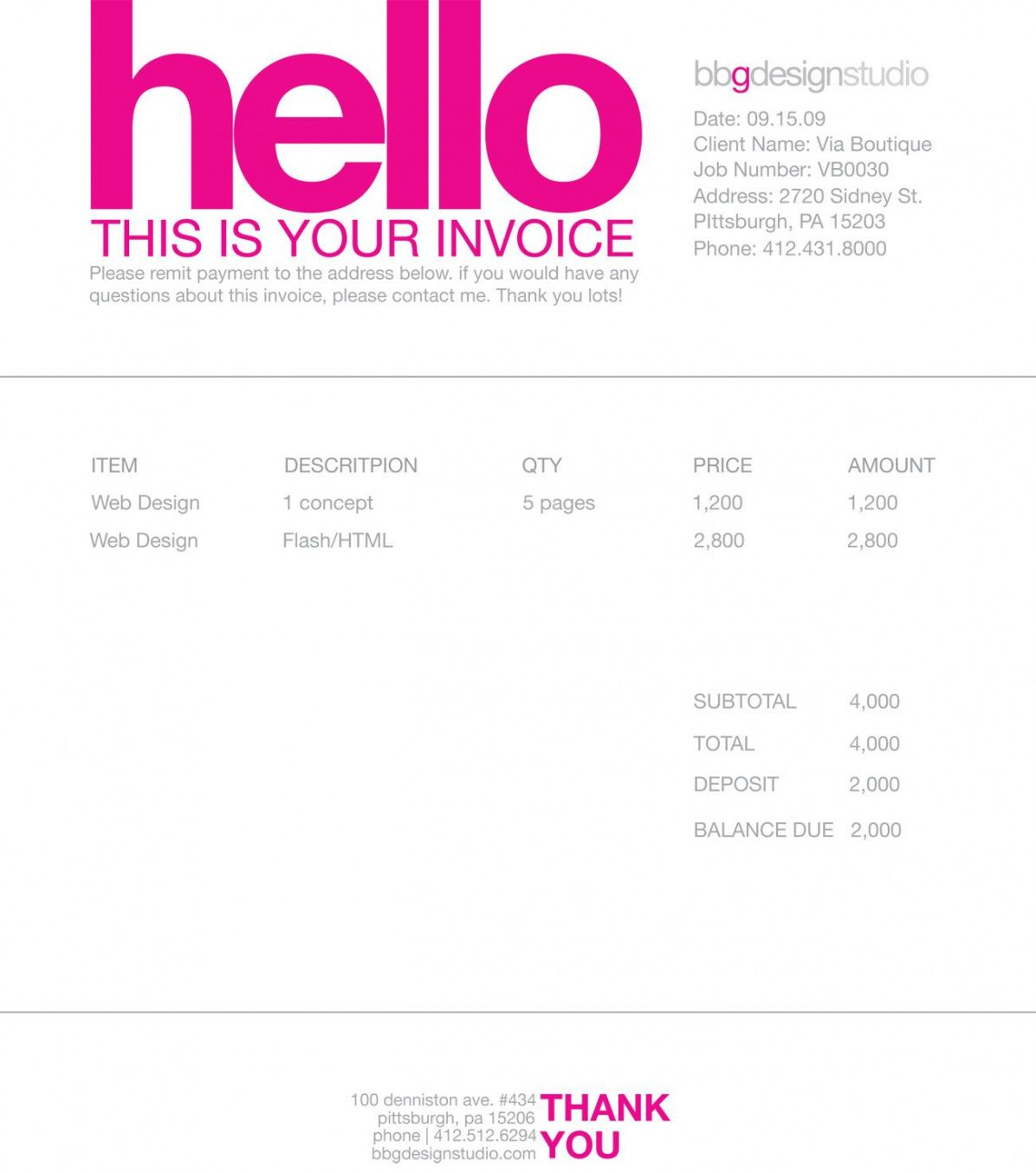 invoice like a pro: design examples and best practices | design graphic design freelance invoice template pdf blank