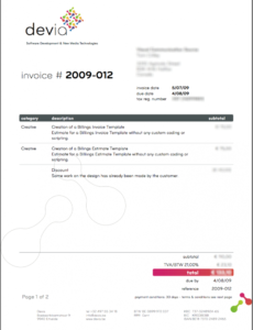 invoice like a pro: design examples and best practices | fartsy graphic design freelance invoice template sample