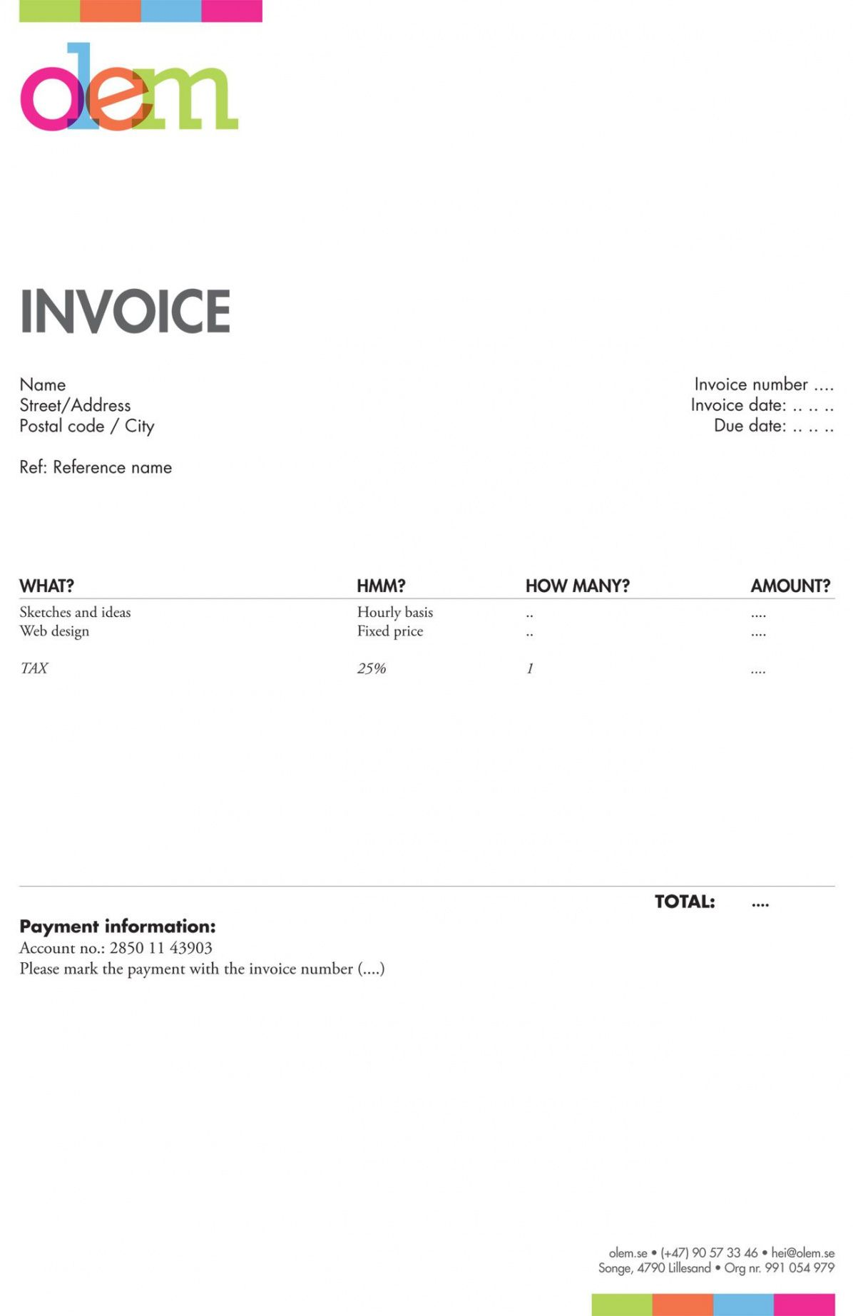printable invoice like a pro: design examples and best practices | biz cards graphic design freelance invoice template