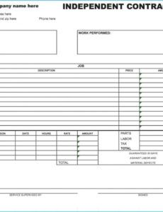 best independent contractor invoice template as sample new independent contractor invoice template sample