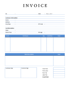 editable auto repair invoice | templates at allbusinesstemplates auto shop invoice template sample blank