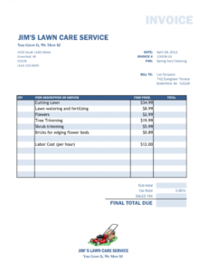 editable fake medical bill template and floral clerk cover letter lawn mowing invoice template