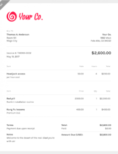 editable free web design invoice template | zipbooks web design invoice template doc blank