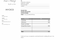 Editable How To Make Up An Invoice – Togo.wpart.co Makeup Artist Invoice Template