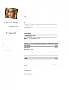 editable how to make up an invoice - togo.wpart.co makeup artist invoice template