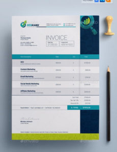 editable invoice template for seo (search engine optimization seo invoice template  blank