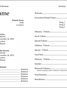 funeral template – edel alon funeral home invoice template example
