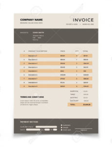 invoice template. bill form with data table and tax. bookkeeping.. bookkeeper invoice template pdf blank