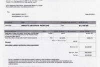 Pin By Luisanna Calderon-Model On B U S S I N E S | House House Painting Invoice Template Example Blank