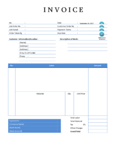 printable editable plumbing sales invoice sample in word | templates sample plumbing invoice template word