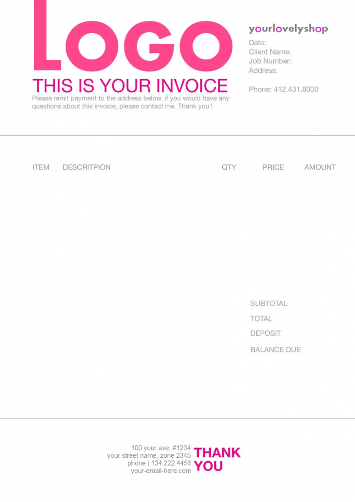 printable example of line in graphic design | invoice design web design invoice template example