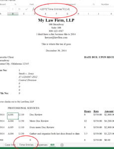 printable excel tutorial for law firm billing template | law, invoice law firm invoice template  blank