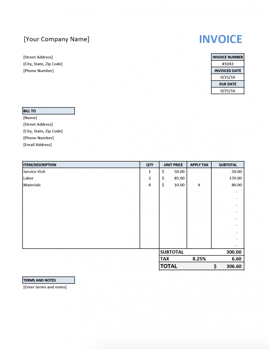 printable free invoice template for contractors #electrician sample plumbing invoice template pdf