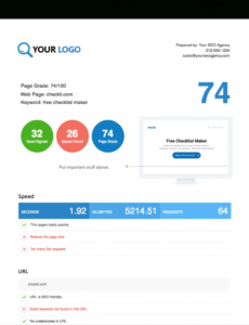 printable free seo audit report tool - white label & embed options seo invoice template word blank