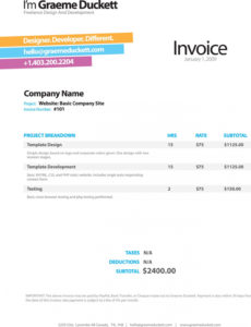 printable invoice like a pro: design examples and best practices web design invoice template