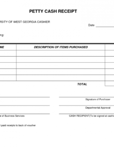 printable petty cash receipt form template very simple and easy to cash invoice template doc