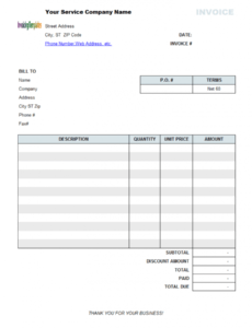 printable service invoice template professional services invoice template