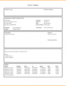 printable service rendered invoice - wpart.co services rendered invoice template sample