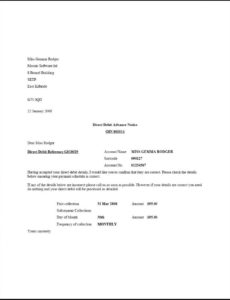 bank details letter to customers pay frequency change notice template word
