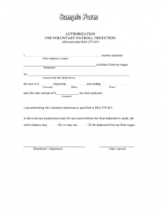 editable authority to deduct sss loan  fill online printable employee payroll deduction form template