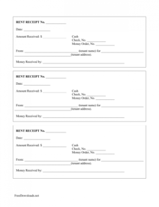 editable download monthly rental payment receipt template  pdf rent payment slip template excel