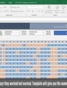 editable employee time tracker payroll excel template  eloquens payroll variance report template word